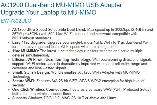 Edimax AC1200 wifi_MiniDescription